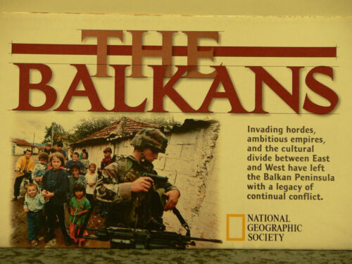 Vintage 2000 National Geographic Map of the Balkans
