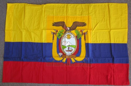 EQUADOR FLAG - 1980s Vintage Official US Government Military Issue & EmbassyOther Militaria - 135