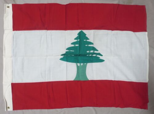 LEBANON NATIONAL FLAG - 1970s Official US Government Military IssueOriginal Period Items - 13983