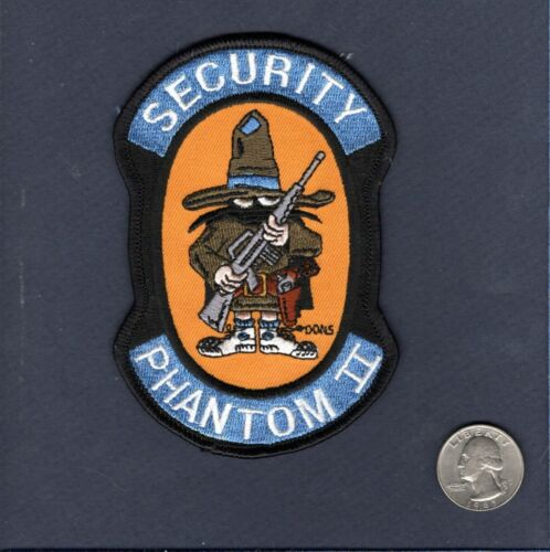 F-4 PHANTOM SECURITY USAF TFS McDonnell Fighter Squadron Jacket PatchAir Force - 48823