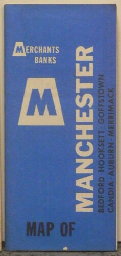 Late 1960's-Early 1970's Arrow Street Map of Manchester, New Hampshire