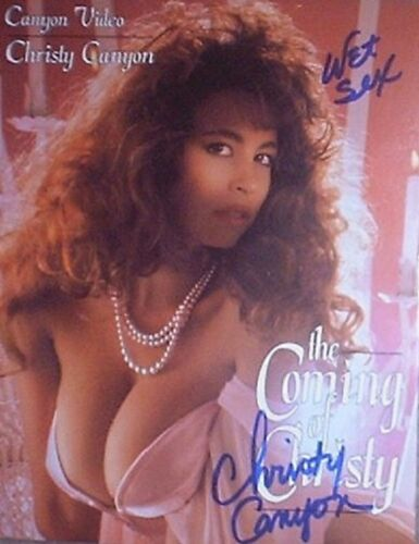 CHRISTY CANYON SIGNED COMING OF CHRISTY SLICK w/ PIC PROOF!