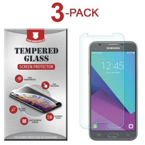 (3-Pack) Tempered Glass Film Screen Protector For Samsung Galaxy J3 Emerge