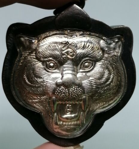 Tiger​ Face LP​ PERN​ Holy​ Powerful​ Protect​ Talisman​ Buddha​ Thai​ Amulet