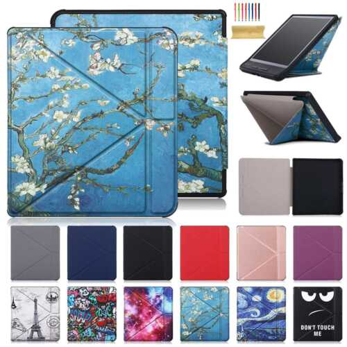 Slim Pattern S/Wake Smart Leather Cover For Kobo Forma 8 Inch Shockproof Case