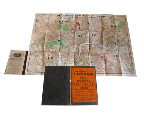 Whitbread's Map of LONDON for 1862 postal districts