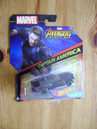 MARVEL - Captain America - Hot Wheels character cars voiture miniature - NEUF