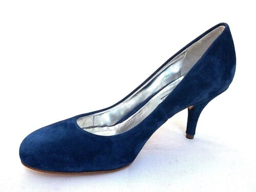 THE SELLER LADIES CIPRO NAVY SUEDE LEATHER HEELS COURT SHOES WOMENS UK 3 -EUR 36