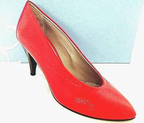 PACO GIL LADIES BRIGHT RED LEATHER HEELS COURT SHOES WOMANS UK 3 - EUR 36