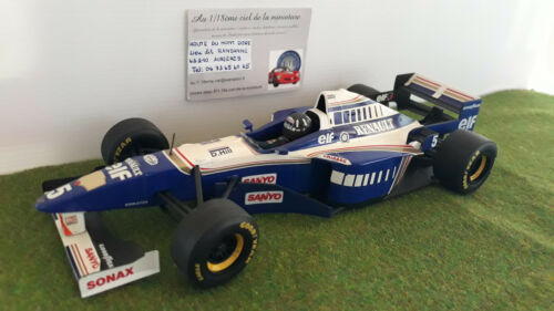 F1 WILLIAMS RENAULT 1996 FW18 HILL WORLD CHAMPION 1/18  MINICHAMPS voiture minia