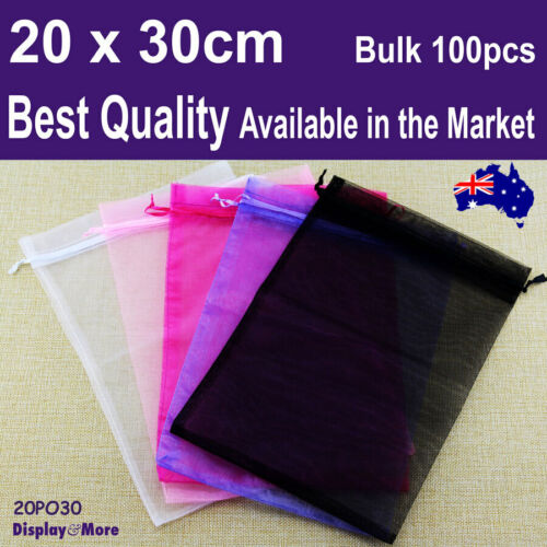 Organza Bag Pouch X-Large | BULK 100pcs 20 x 30cm | BEST QUALITY | AUS Stock