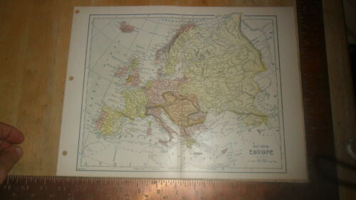 FISK & SEE MAP - ORIGINAL Ca 1900 - EUROPE