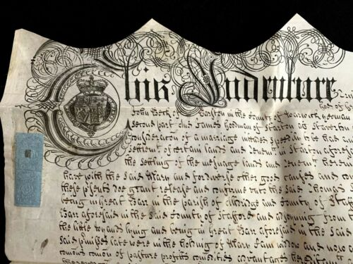 1709 VELLUM MARRIAGE SETTLEMENT for James Goodman and Mary Berk