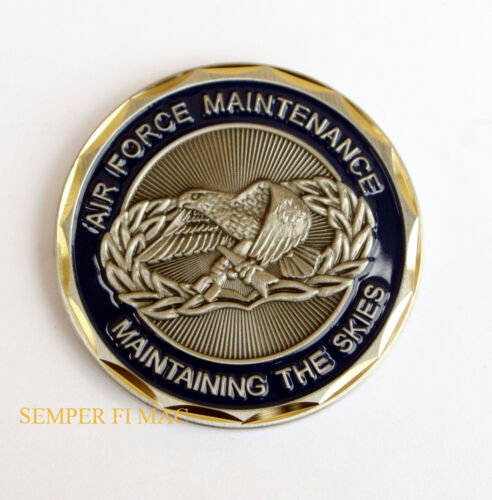 MAINTENANCE US AIR FORCE CHALLENGE COIN USAF PIN UP VETERAN FIGHTER MAINT EAGLEAir Force - 66528
