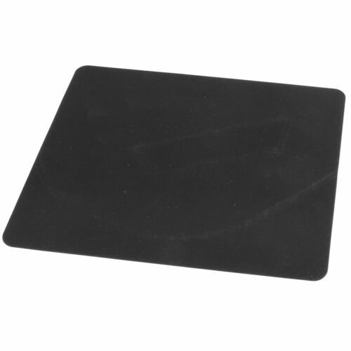 Black Rectangle Shape Silicone Notebook PC Mouse Pad Mat