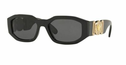 VERSACE 4361 53 GB1/87 THE CLANS SUNGLASSES BLACK OCCHIALE SOLE GREY LENSES