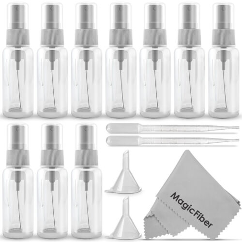 (10 Pack) Empty 20ml (0.66oz.) Clear Plastic Mist Spray Bottles <br/> U.S. TOP Brand and Seller /  Satisfaction Guaranteed