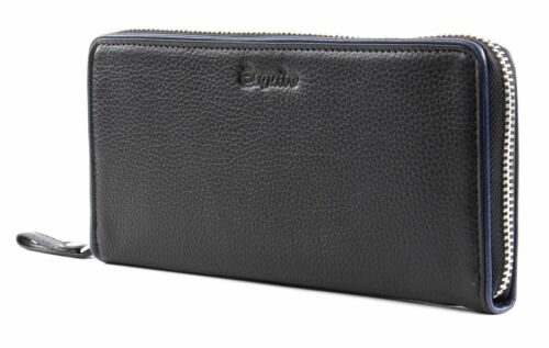 Zip Around Wallet Esquire Piping Black / Roy