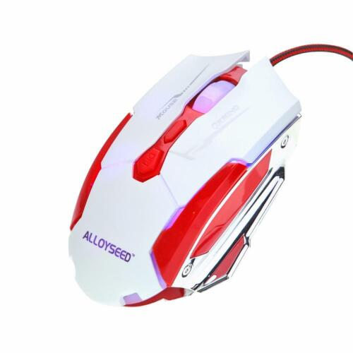 ALLOYSEED K1015 USB Wired Gaming Mouse Fast Transmission 7 Buttons (Red) #JT1