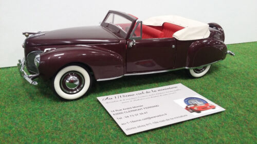 LINCOLN CONTINENTAL cabriolet 1941 1/24 FRANKLIN MINT voiture miniature collecti