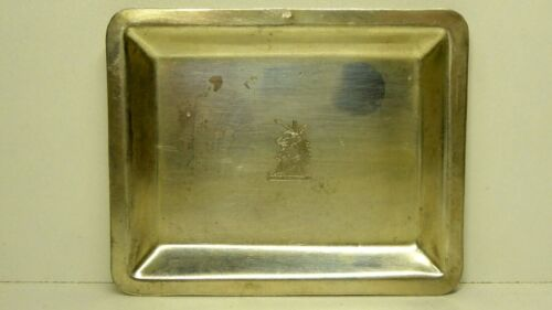 ANTIQUE STERLING SILVER CARD TRAY ENGRAVED - STAMPED UNICORN 925
