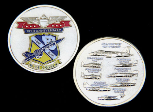 *# BLUE ANGELS 2016 CHALLENGE COIN US NAVY MARINES AVIATION PIN UP USS F18 BANavy - 66533