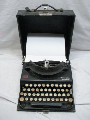 Antique 1922 Remington Model 1 Portable Typewriter w/Case