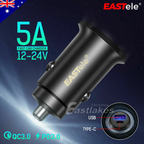 FAST CHARGING USB-C Car Charger for Apple iPhone 12 mini 11 Pro Max XS XR SE