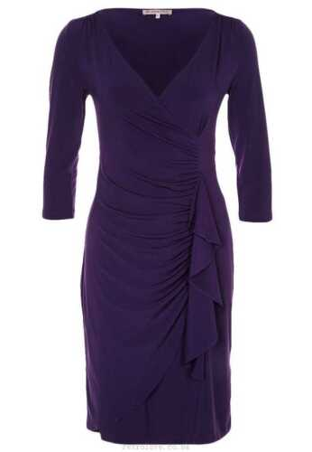 Anna Field Ruched Cocktail Party Dress Size 8 BNWT RRP £41.99 Purple Uk Freepost
