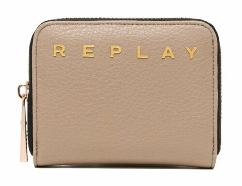 REPLAY Small Zip Around Wallet Bright Sand