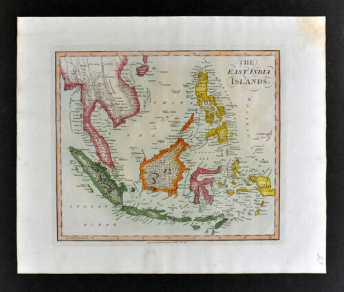 1812 Darton Union Atlas Map East Indies Philippines Singapore Sumatra Java Papua