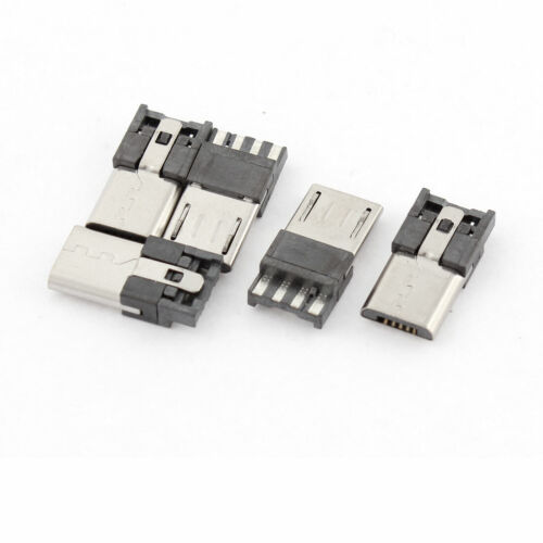 5 Pcs Micro USB B Type 5 Pin Male PCB Mount Jack Port Socket Replacement