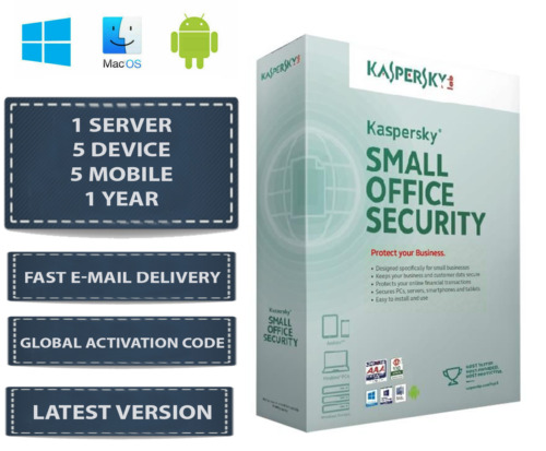 Kaspersky Small Office Security V6 1 Server 5 DEVICE + 5 MOBILE + 1 YEAR