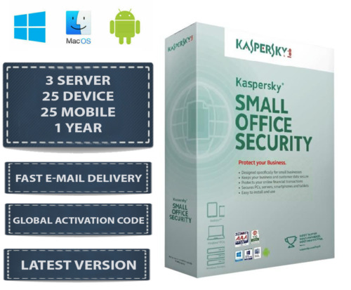 Kaspersky Small Office Security V8 3 Server 25 DEVICE + 25 MOBILE + 1 YEAR