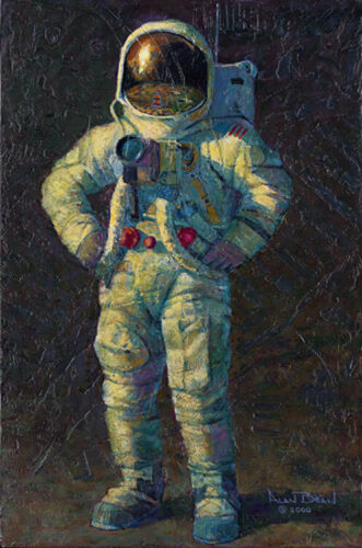 Alan Bean Limited Edition Print sign numbered Fast Times on the Ocean of Storms