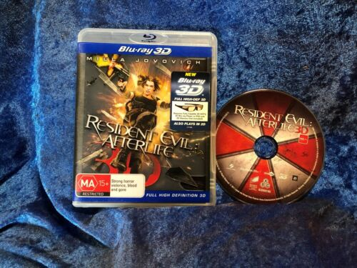 Resident Evil Afterlife Bluray 3D Free Postage