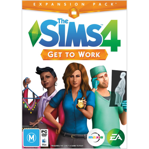 The Sims 4 Get To Work PC MAC *ORIGIN DOWNLOAD CODE* READ DESCRIPTION*