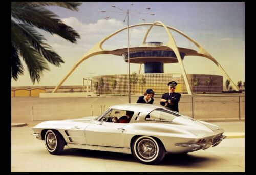 1963 CORVETTE STINGRAY LAX 24X36 inch poster, sports car