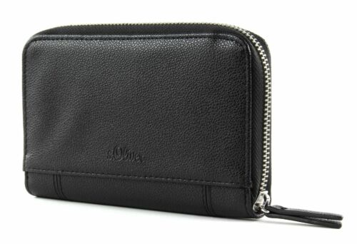 s.Oliver borsa Zip Wallet Grey / Black
