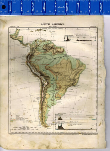 1867 Guyot Physical Map of South America - Clearance Item