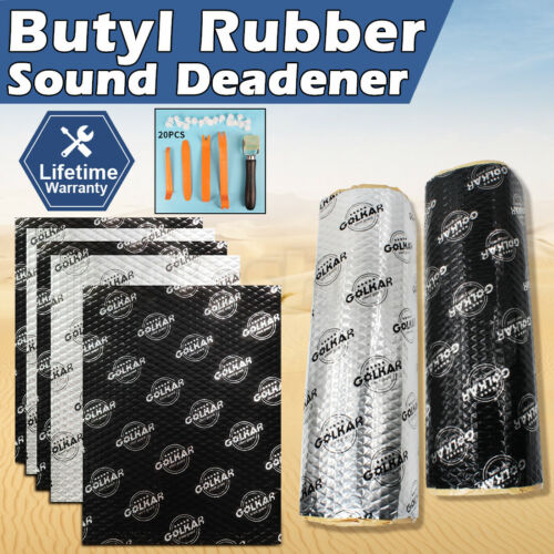 2㎡ - 8M Butyl Sound Deadener Roll 30% THICKER Sound Proofing vs dynamat pingjing