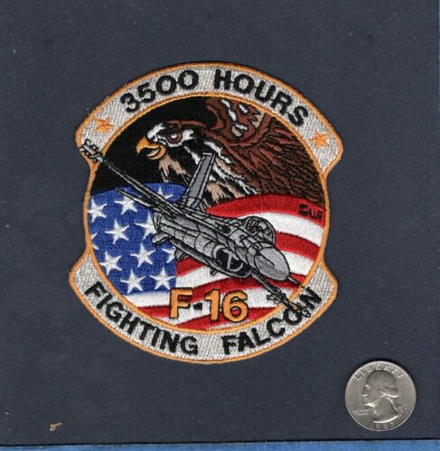 F-16 FIGHTING FALCON 3500 HOURS USAF EFS EF TFS Fighter Squadron Crew PatchAir Force - 48823