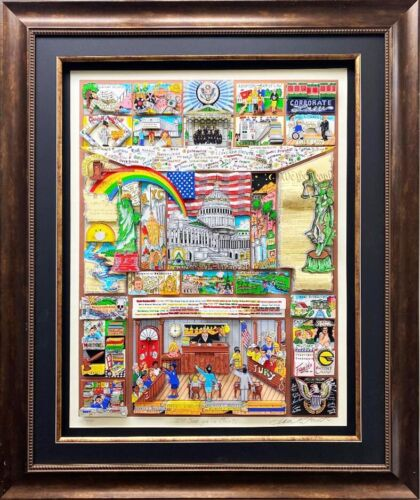 """Charles Fazzino """"I'll See Ya' In Court!"""" FRAMED Signed & # Pop Art Legal Lawyer"""
