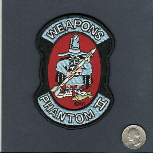 F-4 PHANTOM WEAPONS USAF McDonnell Fighter Squadron Maintenance PatchAir Force - 48823