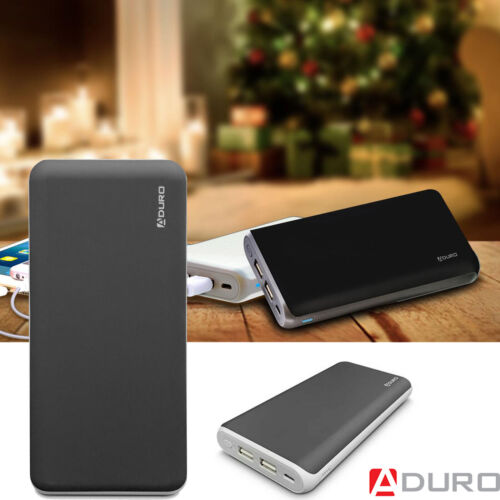 Aduro UltraBoost Power Bank 20,000mAh Dual USB Backup Battery for Cell Phones