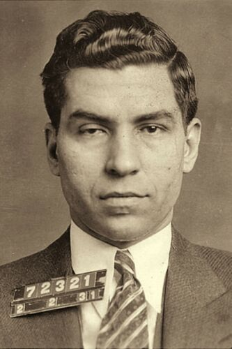 """1930's Charles """"LUCKY"""" LUCIANO Crime Boss Genovese Family N.Y. 4""""x6"""" Reprint"""