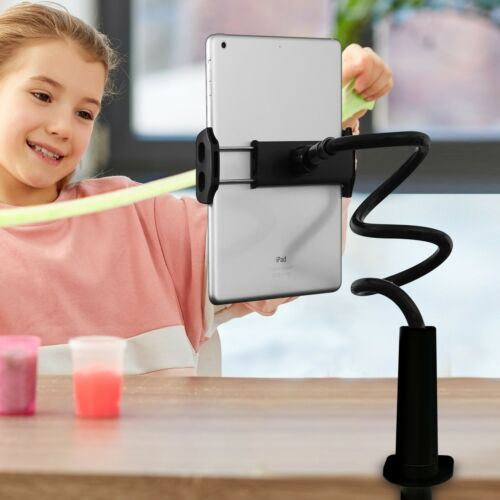 Aduro Solid-Grip 360 Adjustable Universal Gooseneck Tablet Stand for Desk