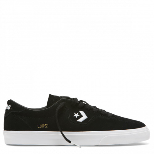Cons Shoes Louie Lopez Pro Low Black White Suede Converse Skateboard Sneakers
