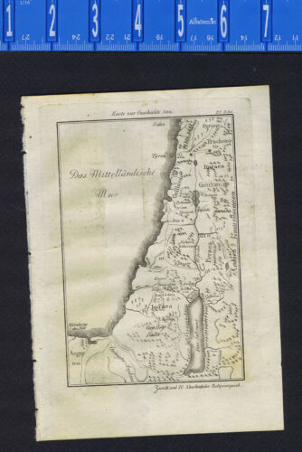 Biblical Map of the History of Jesus- 1813 Copper-Plate Engraving