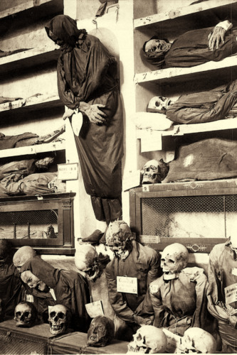 """Ancient Roman CATACOMBS Skeletons, Corpses, Rome, Italy 4""""x6"""" Reprint Photo 002"""